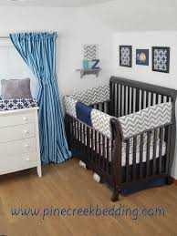 nursery beddings navy and gray elephants baby crib bedding in