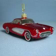 painted 1957 corvette glass car
