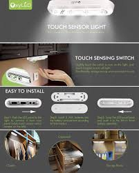 Led Stick On Lights Oxyled Closet Lights Touch Light 4 Led Touch Tap Light Stick On