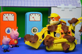 peppa pig muddy puddle episode paw patrol tractor clean