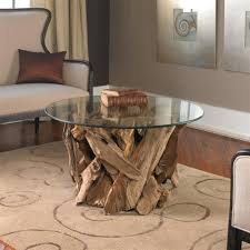 Glass Round Coffee Table by Driftwood Glass Coffee Table Coffee Tables Thippo