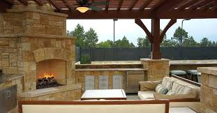 How To Design An Outdoor Kitchen Outdoor Kitchen With Fireplace Outdoor Kitchen Fireplaces Designs
