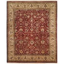 10 Square Area Rugs Kabir Rust Beige Hand Knotted Wool Silk Area Rug 10 U00270 Square