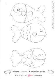 poissons d u0027avril à colorier et imprimer suite petit poisson dans