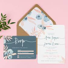 wedding invitations and rsvp berry blush wedding invitation and rsvp by eliza may prints