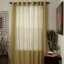 com lavish home mia jacquard grommet single curtain panel