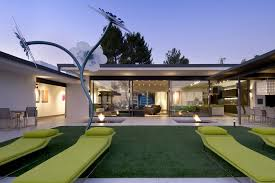 grass and steel house in contemporary architecture design full