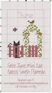 happiness is cross stitching mini cat cross stitch freebies