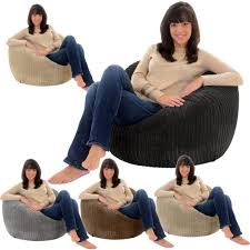 jumbo cord giant beanbag chair big bean bag lounger bags