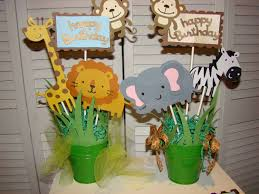 Centerpieces For Baby Shower by Jungle Table Decorations Adapt Idea For Discovery Center Tables