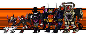 happy halloween png happy halloween from the decepticon justice division transformers