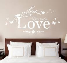 all you need is love vinyl wall art sticker decal mural bedroom all you need is love vinyl wall art sticker decal mural bedroom lounge 120cm white amazon co uk kitchen home