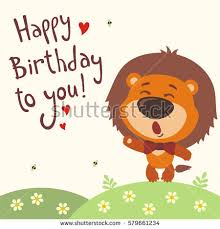 happy birthday singing cards royalty free happy birthday to you tiger 579661237 stock