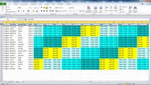 Monthly Employee Schedule Template Excel Creating Your Employee Schedule In Excel