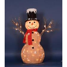 lighted snowman outdoor decoration home decorating ideas