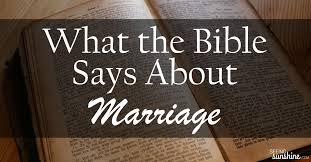 what the bible says about marriage seeing