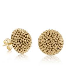 gold earrings tops toscano beaded dome earrings 18k ben bridge jeweler