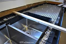 Concrete Countertops Kitchen How To Make Diy Cast In Place White Concrete Countertops Do It