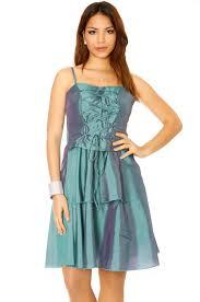 robe cocktail mariage de soirée brillante en vert avec lacet devant robe cocktail