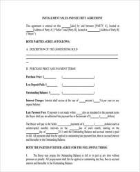 installment plan agreement template installment agreement form samples 8 free documents in word pdf