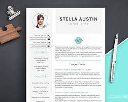 template of a resume resume template etsy