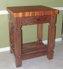 custom kitchen island tigerwood walnut butcher block by carolina