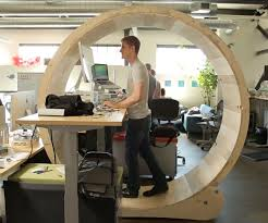 Building A Wooden Desktop by Hamster Wheel Standing Desk 10 Steps With Pictures