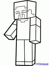drawn minecraft black and white pencil and in color drawn