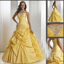 yellow wedding dress formal yellow wedding dresses beading bridal gown prom party