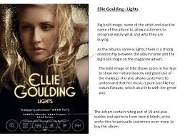 Ellie Goulding Lights Album Ancillary Task Magazine Advert Research