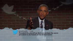 president obama reads a mean tweet from donald trump on jimmy kimmel