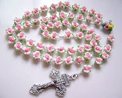 beautiful rosaries pink soft cerami rosary cross beautiful catholic rosary