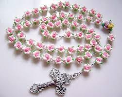 pink rosary pink soft cerami rosary cross beautiful catholic rosary