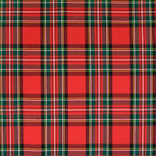 plaid and green plaid woven upholstery fabric