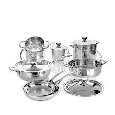 wolfgang puck bistro elite 14 piece stainless cookware set