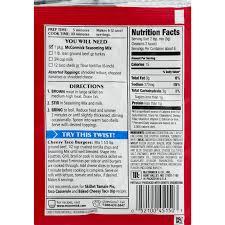 mccormick cheesy taco seasoning mix 1 12 oz walmart com