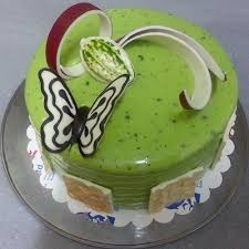 min 1kg green butterfly cake for baby shower online gifts