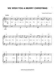 we wish you a merry accordion sheet for piano