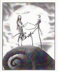 tim burton signed entertainment memorabilia ebay