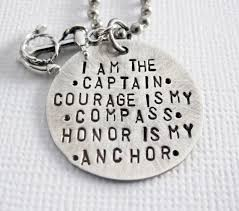 Items Similar To Love Anchors - anchor necklace rustic my captain compass by patriciaannjewelry