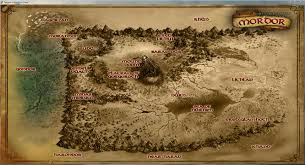 Lord Of The Rings World Map by Shadow Of War Ingame World Map Shadowofmordor