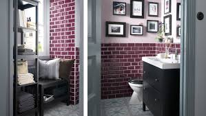 ikea bathrooms ideas a small decorated bathroom with a reading nook and shelving unit