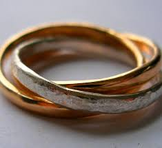 russian wedding rings interlocking russian wedding rings felt
