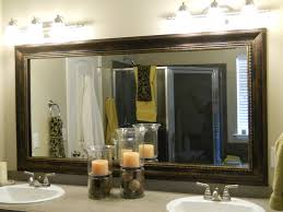 Decorate A Bathroom Mirror Unique Large Framed Bathroom Wall Mirrors Mirror Oval For Lowes R