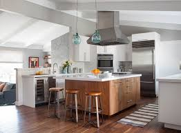 wood island kitchen white kitchen wood island houzz
