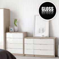 Bedroom Furniture White Gloss Chagne Avola With Gloss Bedroom Furniture Bedroom