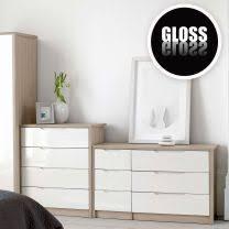 Gloss White Bedroom Furniture Chagne Avola With Gloss Bedroom Furniture Bedroom