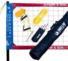 park u0026 sun spectrum classic professional level volleyball net system