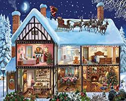 Winter House Decoration Game - amazon com white mountain puzzles christmas house jigsaw puzzle