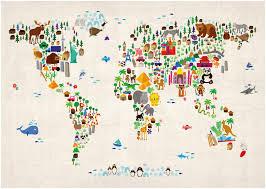 Children S Map Of The World by Mapsherpa Maps International